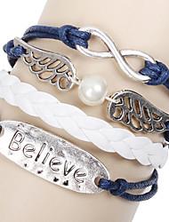preiswerte -Unisex Armbänder Kette Silber / Alluminium / Leder / Seil Ohne Stein