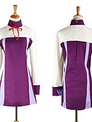 cheap -Inspired by Fairy Tail Anime Cosplay Costumes Dresses Patchwork Long Sleeves Dress For Female