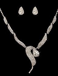 baratos -Mulheres Conjunto de jóias Brincos Colares - Claro Para Casamento Ocasião Especial Aniversário Noivado