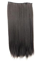 Недорогие -синтетика Наращивание волос Классика Прямой силуэт Клип во/на Классика Прямой силуэт Повседневные Высокое качество