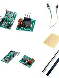 cheap -433M Superregeneration Wireless Transmitter Module (Burglar Alarm) and Receiver Module Accessories for Arduino