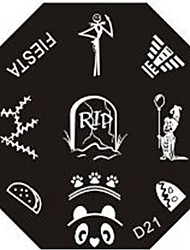 Nail Art Stamp Stamping Image Template Plate D Series NO.21