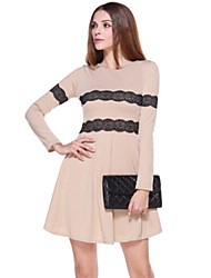 abordables -Européenne Coréen sexy manches longues robe des femmes Luolan