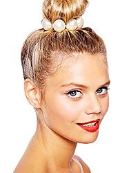 Недорогие -shixin® классический белый жемчуг европейские упругие волосы связей (1 шт)