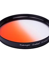 tianya® 58 milímetros circular filtro graduado laranja para Canon 650D 700D 600D 550D 500D 60D 18-55mm lente
