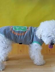 abordables -Chien Tee-shirt Sweatshirt Vêtements pour Chien Lettre et chiffre Gris Costume Pour les animaux domestiques