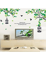 cheap -Wall Stickers Wall Decals, Style Bird Cage On The Tree Branches PVC Wall Stickers