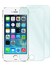 cheap -2Pack 0.33mm Tempered Glass Screen Protector with Microfiber Cloth  for iPhone 5 / 5S /5C