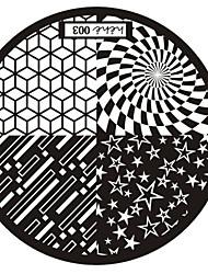 nail art timbro immagine che timbra piatto modello di serie n ° 3 hehe