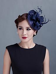 economico -fascinator di piume di tulle fiori copricapo stile femminile classico