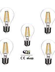 žárovky žárovky e26 / e27 a60 (a19) 4 cob 400lm teplé bílé 2800-3200k stmívatelné ac 100-240v