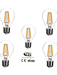 e26 / e27 led glühbirnen a60 (a19) 4 cob 400lm warmweiß 2800-3200k dimmbar ac 100-240 v