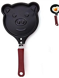 Недорогие -Свинья форма лица антипригарным мини-сковорода яйцо плесень без крышки