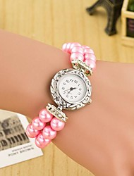 cheap -Women's Quartz Wrist Watch Bracelet Watch Hot Sale Leather Band Pearls Fashion Multi-Colored