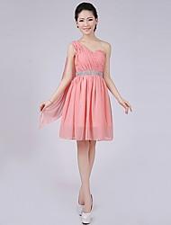 cheap -Short / Mini Bridesmaid Dress - A-line / Princess One Shoulder with