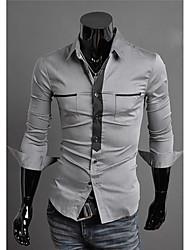 economico -MEN - Camicie casual - Bodycon/Spiaggia Cotone