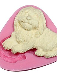 cheap -3D Animal Silicone Fondant Mold Pet Cake Decorating Mould Silicone Dog Mold For Cake Chocolate  Sugar Saop