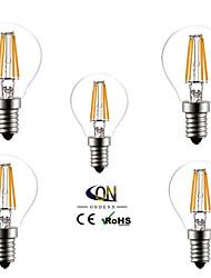 cheap -ONDENN 5pcs 2800-3200 lm E14 LED Globe Bulbs A60(A19) 4 leds COB Warm White AC 220-240V