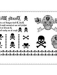 Недорогие -1 pcs Временные татуировки Специальный дизайн / Одноразового использования Корпус / рука / ножка Наклейка для переноса воды Временные тату / Стикер татуировки