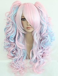 Anime Modelling Mixed Color High Quality Synthetic Hair