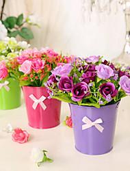 Afdeling Silke Roser Bordblomst Kunstige blomster 15*15*16
