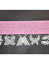 Silicone Lace Mat,Cake Lace Mould,Cake Decor Supplies,Fondant Lace Mold,Butterfly Stencils