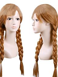 abordables -Partido peluca - Rectos - Marrón Sintético - para Mujer