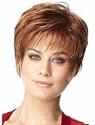 cheap -Women Synthetic Wig Short Dark Brown Costume Wigs Costume Wigs