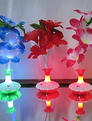 cheap -Colour Kapok Flower Vase Optical Fiber Flowers LED Night Light
