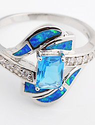cheap -Women's Zircon Statement Ring - Fashion Blue Ring For Wedding Party Daily Casual Sports