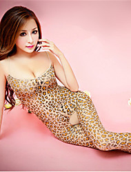 cheap -Women's Ultra Sexy Teddy Nightwear Leopard Spandex Screen Color