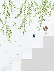 Недорогие -Люди ботанический Мультипликация Наклейки Простые наклейки Декоративные наклейки на стены, Винил Украшение дома Наклейка на стену Стена