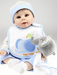 זול -בובה מחדש תינוק 22 אִינְטשׁ סיליקון ויניל - כְּמוֹ בַּחַיִים הילד של בנות צעצועים מתנות
