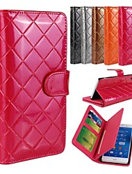 billige -Etui Til Sony Xperia Z3 / Sony Xperia Z3 / Etui Sony Lommebok / Kortholder / med stativ Lomme Geometrisk mønster Hard PU Leather til