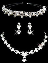 cheap -Women's Imitation Pearl Rhinestone Wedding Special Occasion Anniversary Birthday Engagement Gift Alloy Earrings Necklaces Tiaras