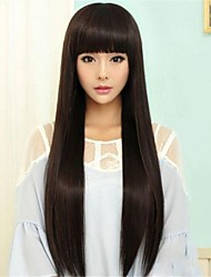 cheap -Japan and South Korea Long Straight Non-mainstream Critical Can Be Hot Rolled High Temperature Silk Face Fashion wig