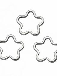Недорогие -Цветочный Shaped брелоки - Серебро (3 шт) Игрушки