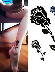 Недорогие -1 pcs Временные тату Временные татуировки Тату с цветами Одноразового использования / Высокое качество, отсутствие формальдегида Искусство тела руки / лодыжка / Стикер татуировки