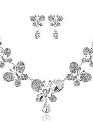 abordables -Femme Imitation Diamant Collier court / Ras-du-cou  -  Basique Mode Forme Géométrique Argent Colliers Tendance Pour Mariage Soirée