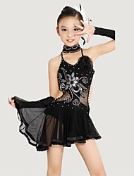 cheap -Shall We Latin Dance Children Polyester/Lycra (Dress/Neckwear/Bracelet)Costumes