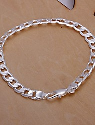 cheap -Men's Silver Plated Chain Bracelet - Unique Design Fashion Others Bracelet For Wedding Party Daily Casual