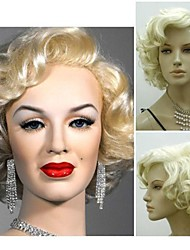 cheap -Women Synthetic Wig Short Curly Silver Light Blonde Cosplay Wig Halloween Wig Carnival Wig Costume Wig