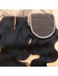 cheap -4x4 10Inch Middle Part Lace Top Closure Body Wave Brazilian Virgin Hair Closure