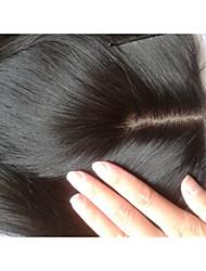 """cheap -Silk Base Closure 16"""" Straight Malaysian Virgin Hair Closures Silk Base Middle Part Natural Colour Human Hair Piece"""