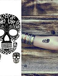 abordables -Tatuajes Adhesivos - Non Toxic/Parte Lumbar/Waterproof - Series de Tótem - Mujer/Hombre/Adulto/Juventud - Negro - Papel - 1 pc -6*10.5cm