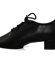 "cheap -Kids' Latin Leatherette Heel Lace-up Cuban Heel Black 1"" - 1 3/4"" Non Customizable"