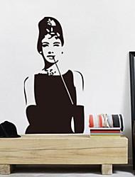 rimovibile romantica camera Hepburn Audrey / autoadesivo della parete soggiorno