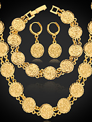 cheap -Women's Gold Plated Jewelry Set Earrings / Necklace / Bracelets & Bangles - Silver / Golden Jewelry Set For Wedding / Party / Daily
