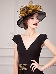 Недорогие -органза шляпы головной убор свадьба элегантный элегантный женский стиль