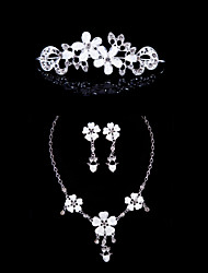 cheap -Women's Rhinestone Wedding Special Occasion Anniversary Birthday Engagement Gift Alloy Earrings Necklaces Tiaras